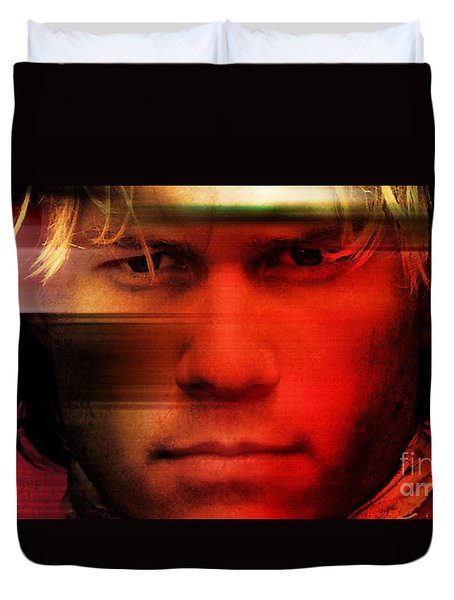 Heath Ledger Duvet Cover by Marvin Blaine