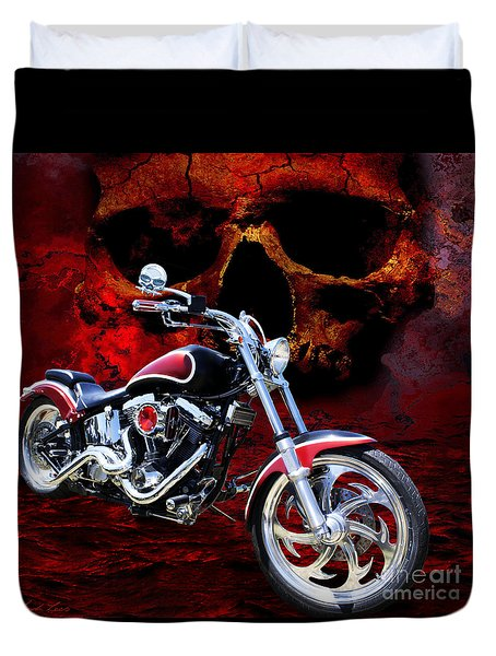 Heaven And Hell Duvet Cover by Linda Lees