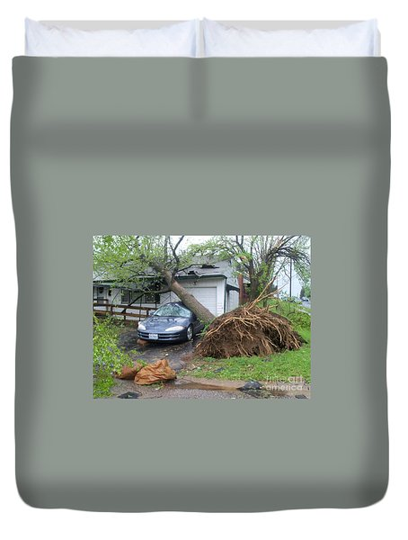 Duvet Cover featuring the photograph Her Fury by Kelly Awad