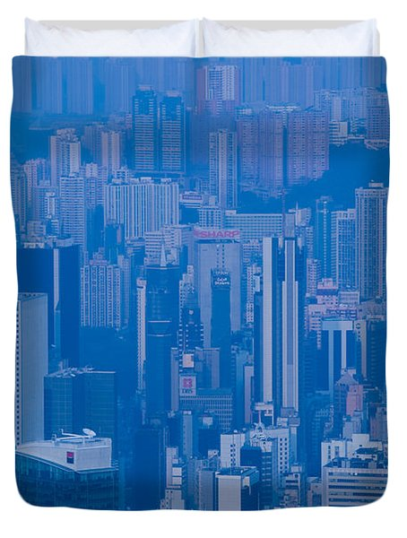High Angle View Of Buildings Duvet Cover by Panoramic Images