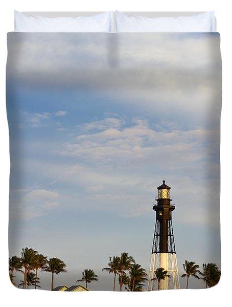 Hillsboro Inlet Lighthouse Duvet Cover