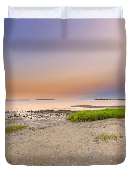 Hilton Head Island Duvet Cover by Peter Lakomy