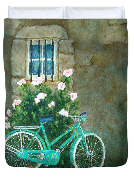 Home For Lunch In Rome Duvet Cover by Pamela Allegretto