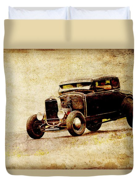 Hot Rod Ford Duvet Cover by Steve McKinzie