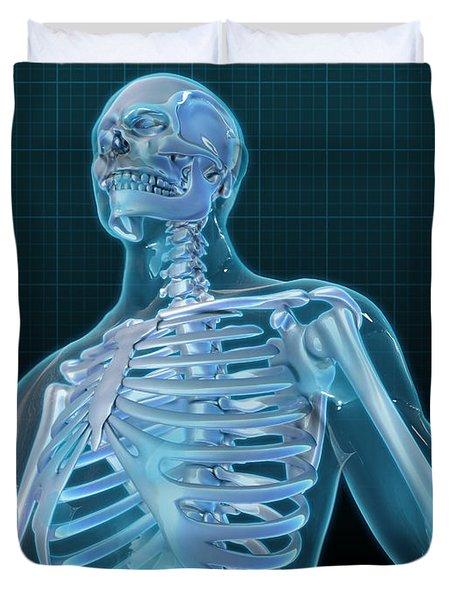 Human Skeleton, Artwork Duvet Cover