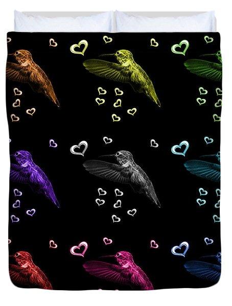 Hummingbird Pop Art - 2055 F M - Bb Duvet Cover