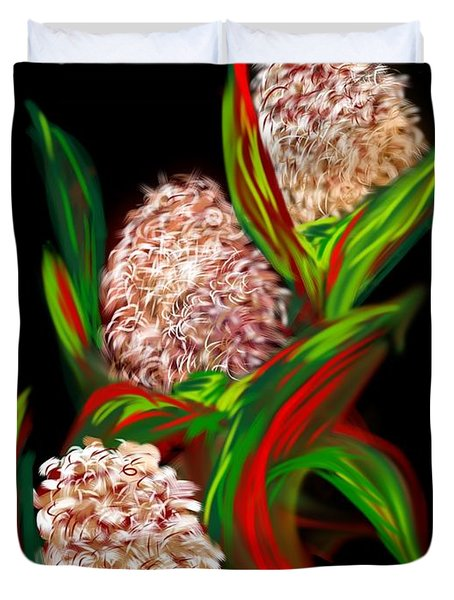 Duvet Cover featuring the digital art Hyacinth by Christine Fournier