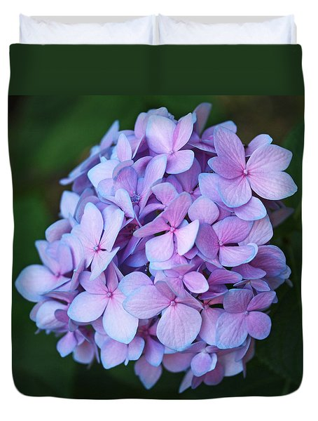 Hydrangea Duvet Cover by Rona Black