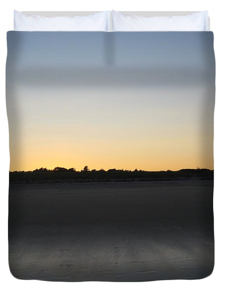 In The Shadow Of The Dunes Duvet Cover