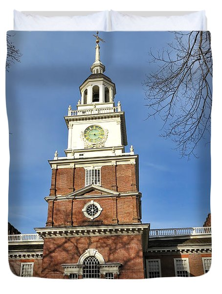 Independence Hall In Philadelphia Duvet Cover