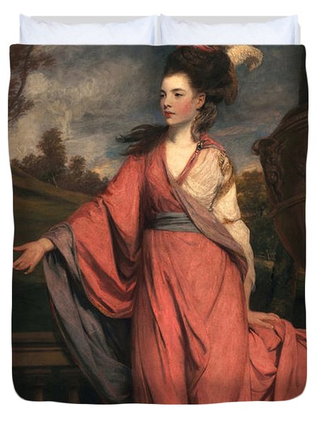 Jane Fleming, Later Countess Duvet Cover by Sir Joshua Reynolds