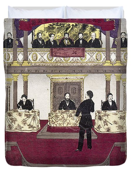 Japan Parliament, 1890 Duvet Cover