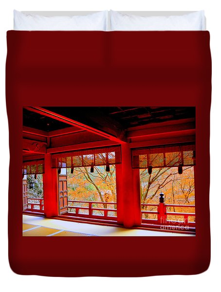 Japan Red Duvet Cover