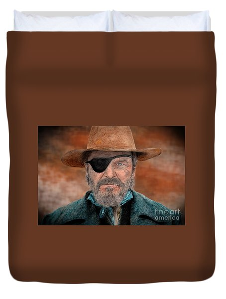 Jeff Bridges As U.s. Marshal Rooster Cogburn In True Grit  Duvet Cover