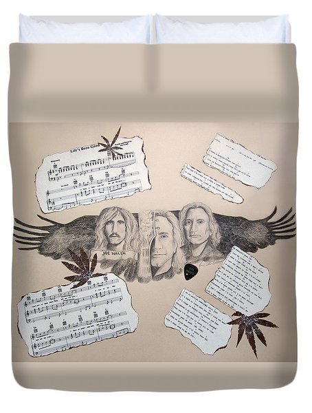 Joe Walsh Good Life Duvet Cover by Renee Catherine Wittmann