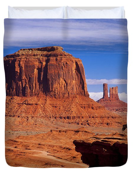 Duvet Cover featuring the photograph John Ford Point Monument Valley by Brian Jannsen