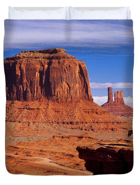 John Ford Point Monument Valley Duvet Cover