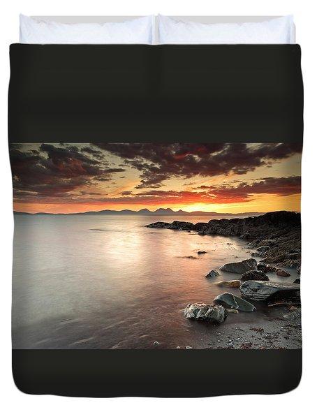 Jura Sunset Duvet Cover by Grant Glendinning