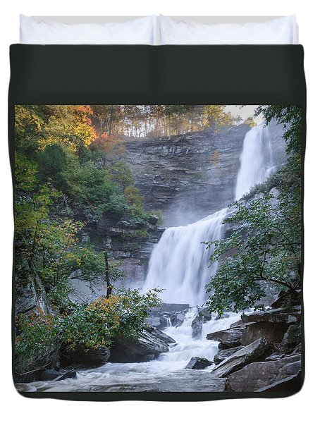 Kaaterskill Falls Square Duvet Cover by Bill Wakeley