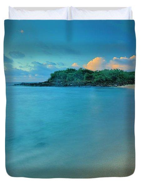 Kaupoa Bay Shoreline On Molokais West Duvet Cover
