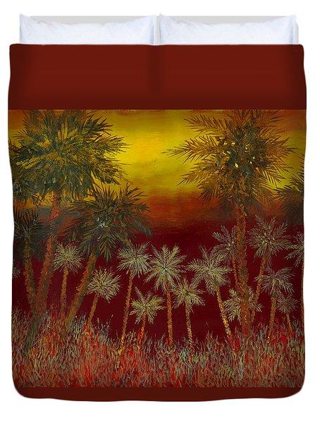 La Jungla Rossa Duvet Cover by Guido Borelli