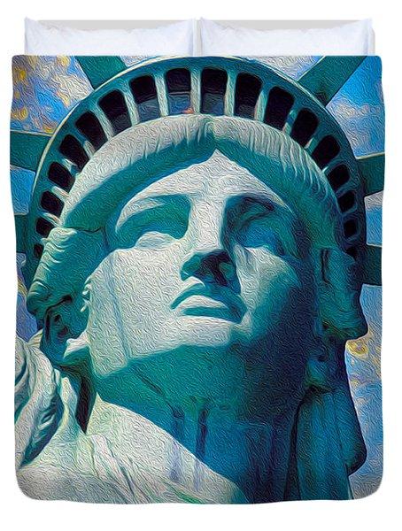 Lady Liberty Duvet Cover by Jon Neidert