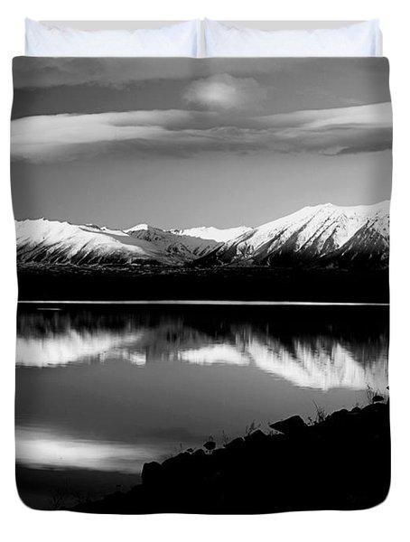 Lake Mcgregor New Zealand Duvet Cover