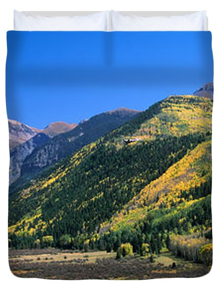 Landscape With Mountain Range Duvet Cover