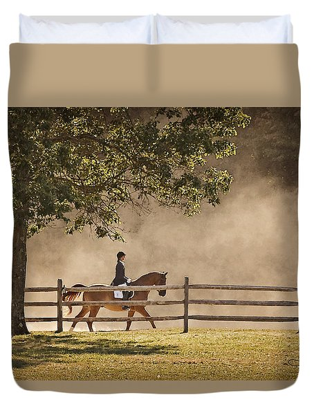 Last Ride Of The Day Duvet Cover