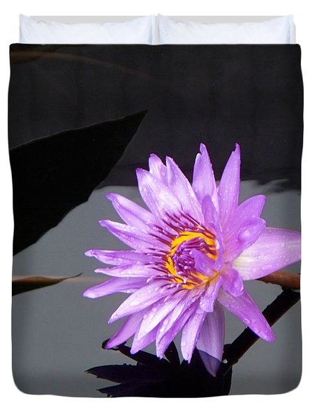Lavender Lily Duvet Cover by Eric  Schiabor