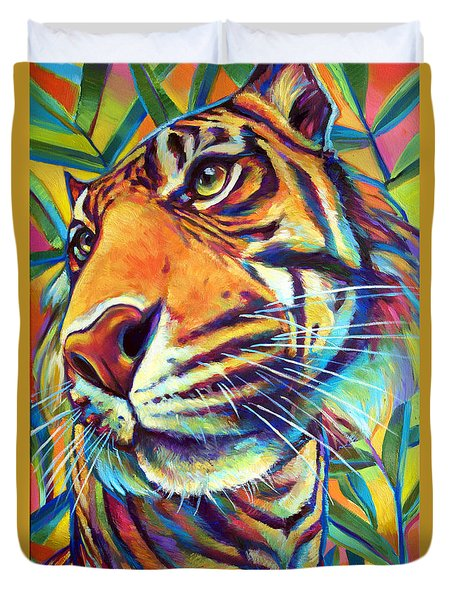 Duvet Cover featuring the painting Le Tigre by Robert Phelps