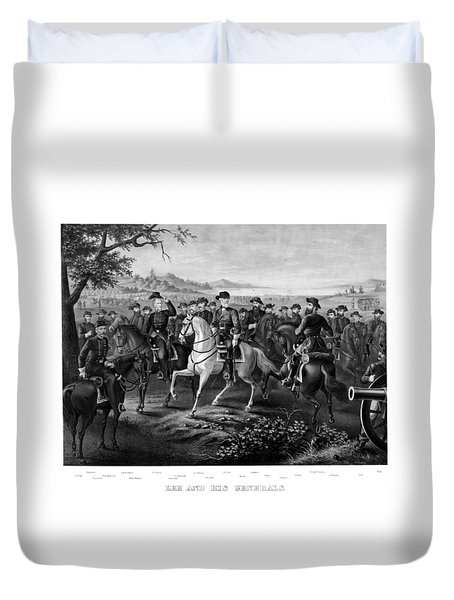 Lee And His Generals Duvet Cover by War Is Hell Store