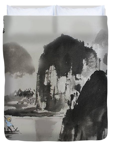 Li River Duvet Cover by Yufeng Wang