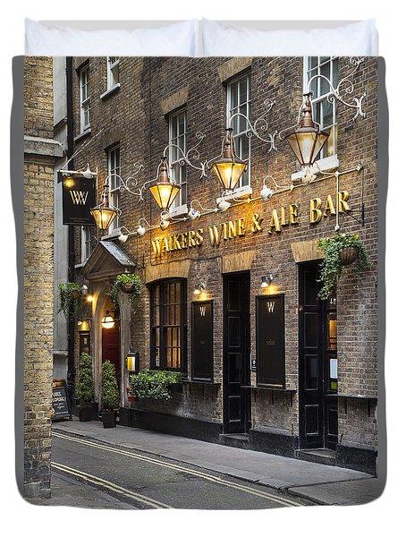 London Pub Duvet Cover