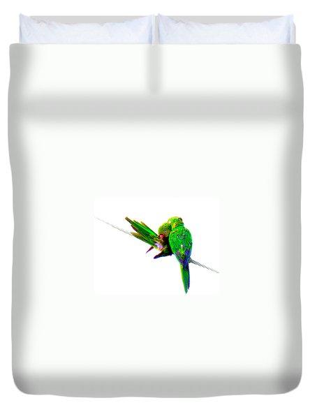 Love Birds Duvet Cover by J Anthony