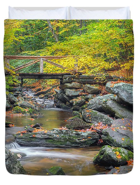 Duvet Cover featuring the photograph Macedonia Brook by Bill Wakeley