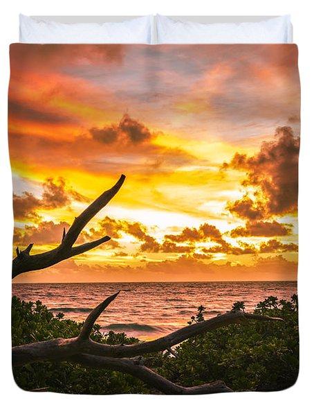Makapuu Sunrise 4 Duvet Cover by Leigh Anne Meeks