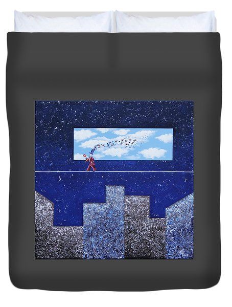Man In Love Duvet Cover