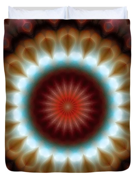 Duvet Cover featuring the digital art Mandala 83 by Terry Reynoldson