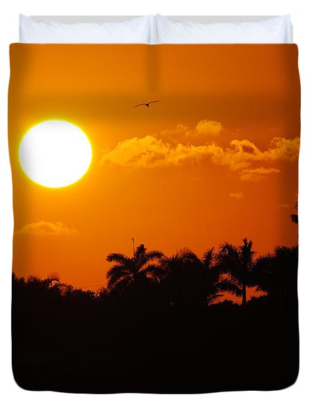 Marco Island Sunset Duvet Cover