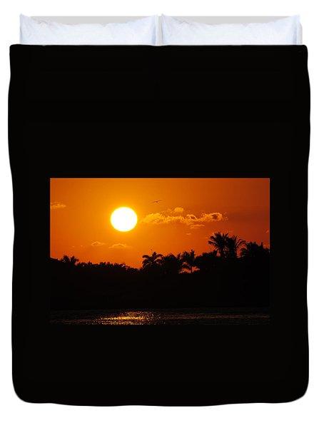 Marco Island Sunset Duvet Cover