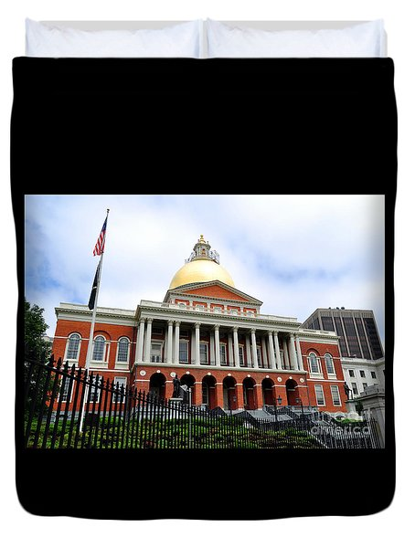 Massachusetts State House Boston Ma Duvet Cover
