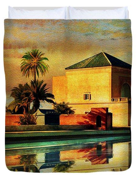 Medina Of Marakkesh Duvet Cover by Catf