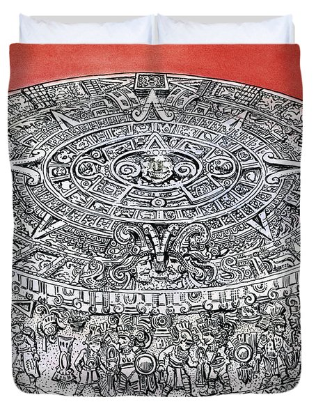 Mexico Stone Of The Sun Duvet Cover