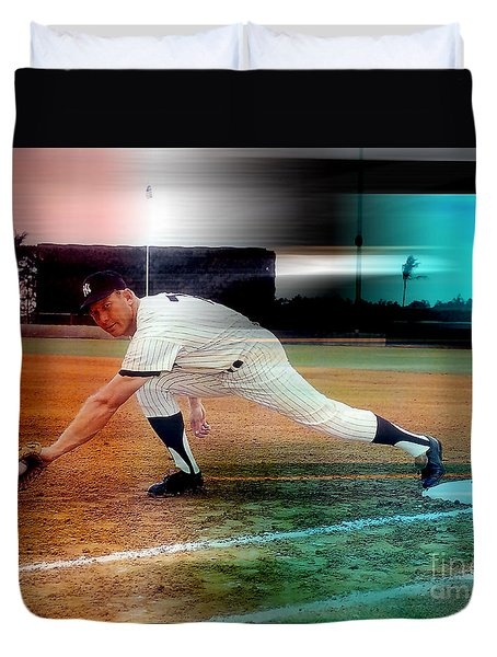 Mickey Mantle Duvet Cover by Marvin Blaine