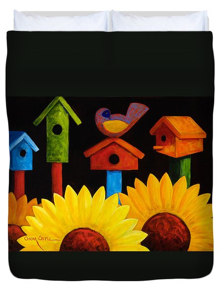 Midnight Garden Duvet Cover