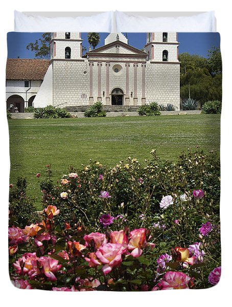 Mission Santa Barbara Duvet Cover by Michele Burgess