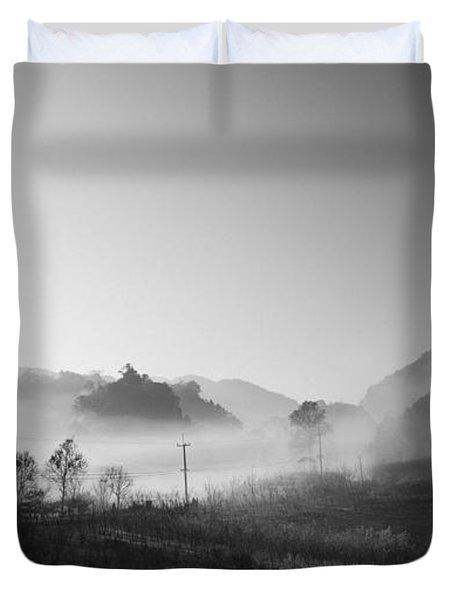 Mist In The Valley Duvet Cover by Setsiri Silapasuwanchai