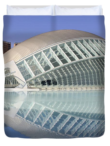 The Hemisferic In Valencia Spain Duvet Cover