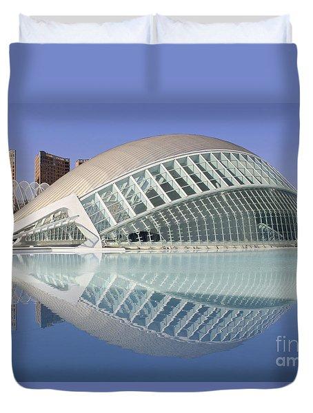 The Hemisferic In Valencia Spain Duvet Cover